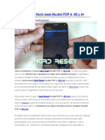 Hard reset Alcatel POP 4, 4S y 4+