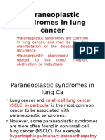 Paraneoplastic Syndromes in Lung Cancer