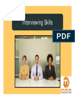 Interviewing Skills Sample