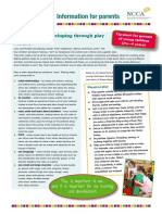 tip-sheet on play parents of young children