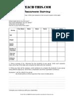COMPARISON Classroom Survey