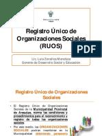 Regristro único de organizaciones sociales Arequipa