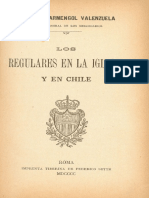 Los Regulares en La Iglesia y en Chile, Armengol Valenzuela.