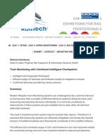Abstract – Michael Osterkamp   RailTech.com