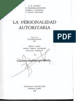 Adorno La Personalidad Autoritaria OCR