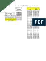 Conversion Coordenadas Geograficas (Listado)