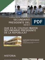 Colegio Mayor Secundario Presidente Del Perú - DISEÑO DE INFRAESTRUCTURA