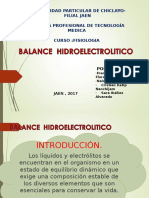 Balance Hdroelectrolitos(Fisiologia)