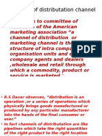 Definition of Distributation Channel