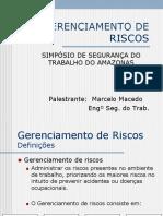 Gerenciamento de Riscos - Palestra Marcelo Santana