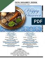Yom Tov Pesach Days 1&2, 2017