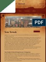 Estudio Yom Teruah - Kehilah יהשוע Yahshuah