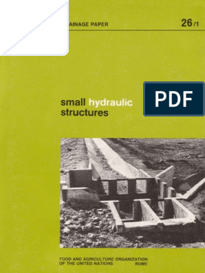 FAO Small Irrigation structure full pdf | Irrigation | Water Resources