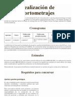 Concurso Ficcion Terminos Realizacion Cortometraje