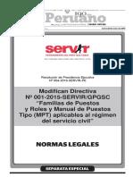 Modifican Directiva n 001 2015 Servirgpgsc Familias de p Resolucion No 004 2016 Servir Pe 1338356 1
