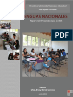 Reporte Proyecto Aula Lenguas Nacionales Daisy Bernal L