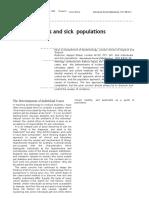 Sick Individuals and Sick Populations