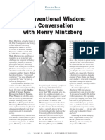 Leadership in Action Volume 23 Issue 4 2003 [Doi 10.1002%2Flia.1028] Henry Mintzberg -- Unconventional Wisdom- A Conversation With Henry Mintzberg