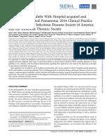 2016 Guidless ISDA - HAP VAP (Neumonia Nosocomial y Asociada a Ventilador)