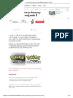 Cheats de Pokemon Blanco y Negro [Funcionan] Parte 2 - Taringa!