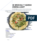 Tarta de Brócoli y Queso Crema Light