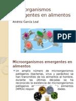 Microorganismos Emergentes en Alimentos