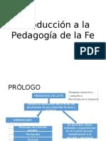 Introducción a La Pedagogía de La Fe