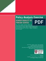 Policy Analysis Exercise Tania Del Rio