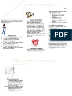 jewelry waiver poster
