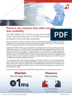 Preserve user response time while ensuring data availability