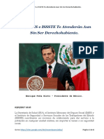 SSA, IMSS e ISSSTE Te Atenderán Aun Sin Ser Derechohabiente - México