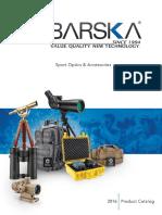 2016 Barska Optics Catalog