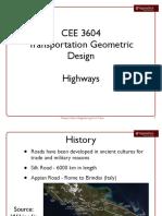 Highway Geometric Design Summary 2