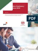 PWC Estudio de Fusiones y Adquisiciones 2016