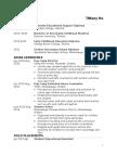 tiffany ho - resume  without info