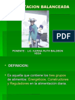 ALIMENTACION BALANCEADA