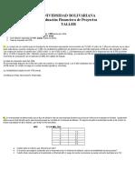 Taller UPB Evaluacion de Proyectos Evaluacion Financiera