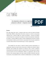 ELDER ALVES. As empresas culturais e as organizações culturais no Brasil _ impactos econômicos