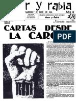"""Revista Amor y Rabia Nr. 10, """"Cartas Desde La Carcel"""" (07.05.1996)"""