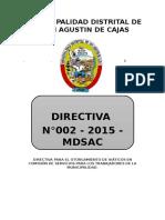 Directiva Para El Otorgamiento de Viáticos