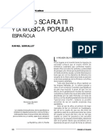 Domenico Scarlatti y La Musica Popular Española