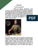 Biografia de Fray Luca Paciolo