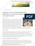 Pranayam—the Art of Self-Management_ Meditation for Increased Energy and Meditation to Prevent Burnout _ Kundalini