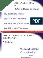 Estructura de La Cruz Roja Colombiana-2011.