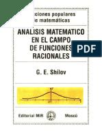 Análisis Matemático en El Campo de Funciones Racionales - Shílov
