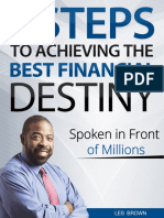 7 Steps to achieving the best financial destiny