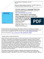 Current Issues in Language Planning