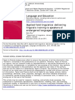 Applied Field Linguistics Delivering