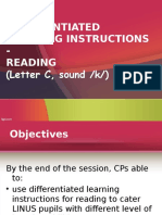 Dif Learning Reading Letter c