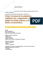 Guía Para El Trabajo Final de Las Asignaturas.